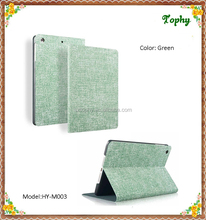 Green Cowboy Grain Folio Leather Stand Fold Smart Slim Cover Kids Case for iPad mini 3