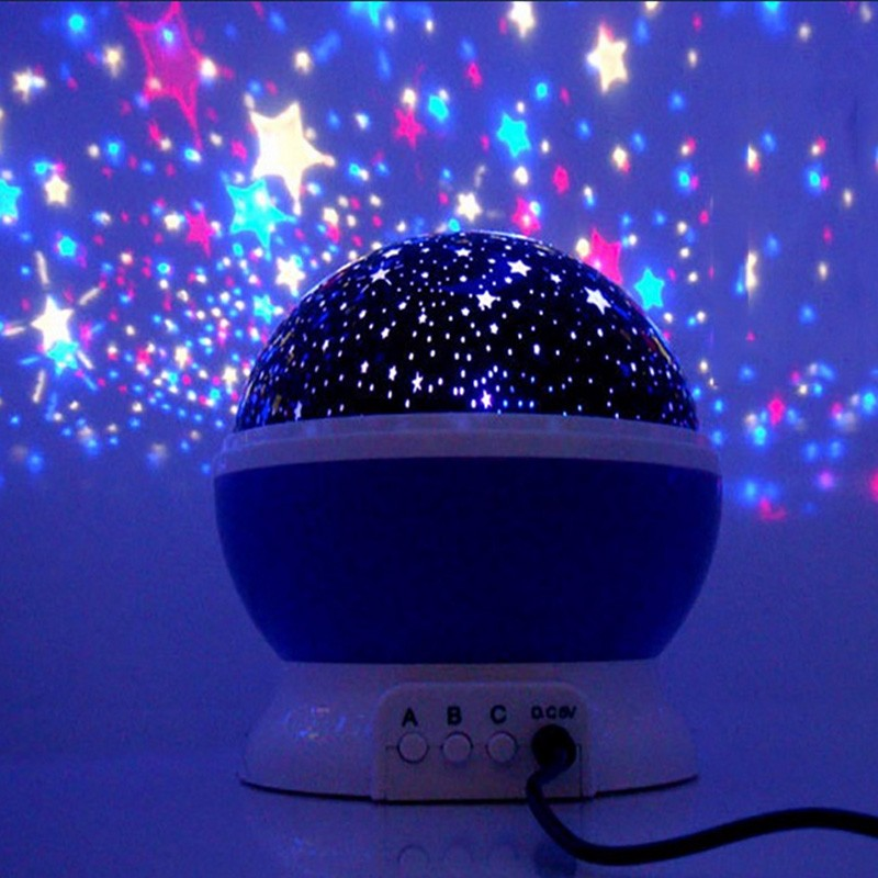 Star Sky Night Lamp,ANTEQI Baby Lights 360 Degree Romantic Room Rotating Cosmos Star Projector With LED Timer Auto-Shut Off