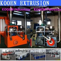advanced pe pp pvc plastic turbo mill pulverizer