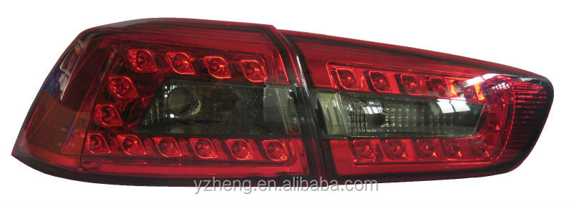 Top quality and low price of led taillight plug and play rear led tail lamp for Mitsubishi lancer tail light