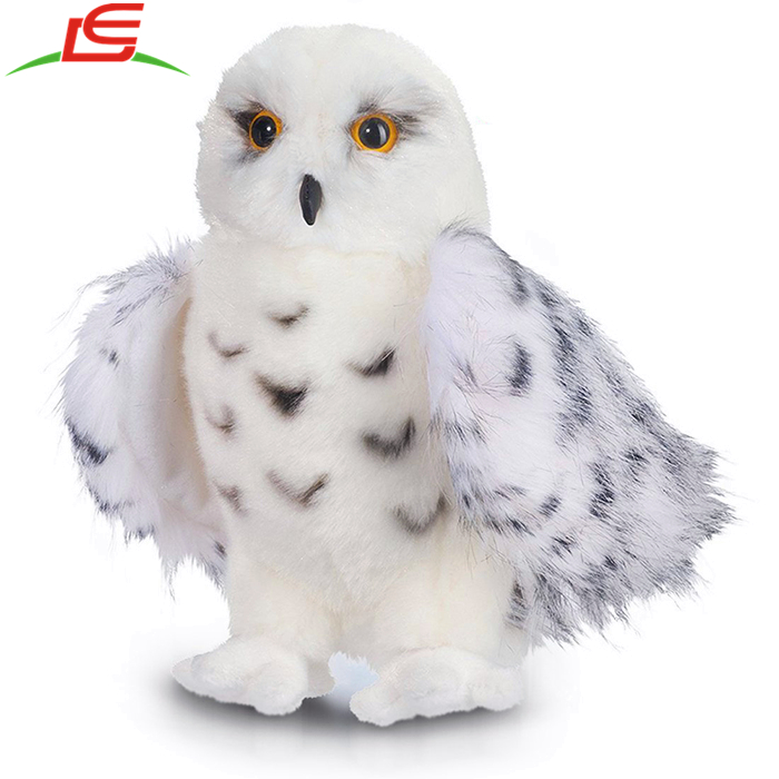 Quality Cuddly Fluffy Children Perfect Gift Snowy White Plush Owl Toy For Bird Lovers