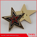 Star shape metal custom made enamel brooch