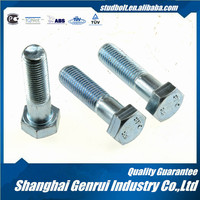 High tensile blue zinc coated m16 bolt grade 5.6 din933 hex bolt
