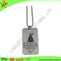 metal logo dog tag