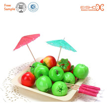 Safe Fruit Skewer Color Bamboo Skewers for Party Supply