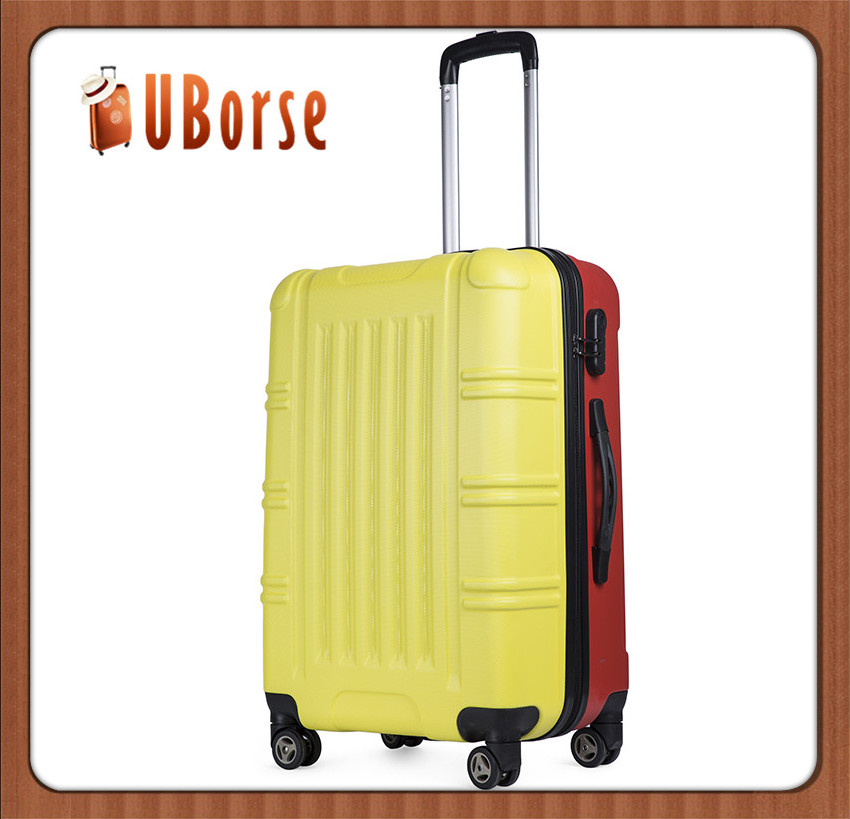 Stripe printed suitcases luggage zipper suitcase hard shell luggage