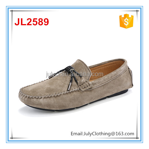 China factory handmade high quality italy style man suede moccasin driving flat footwear