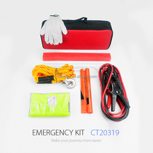 CT20319 auto safety kit roadside car emergency kit with booster cable factory