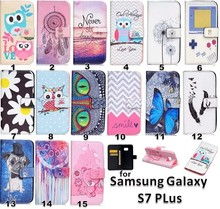 Mobile phone leather case for samsung s7 plus, colorful lovely for samsung s7 plus case leather
