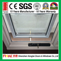 Modern design champagne color aluminum frame awning window with mosquito screen