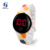 Factory Discount Touch LED Watch Silicone New Design Fashion Girls Watch