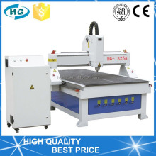 HG-1325 Woodworking CNC Router With Origin NcStudio vacuum table and dust collector