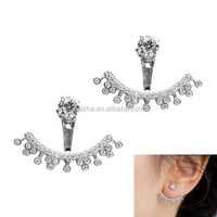 2016 cute animal 925 sterling silver ear jacket channel earring