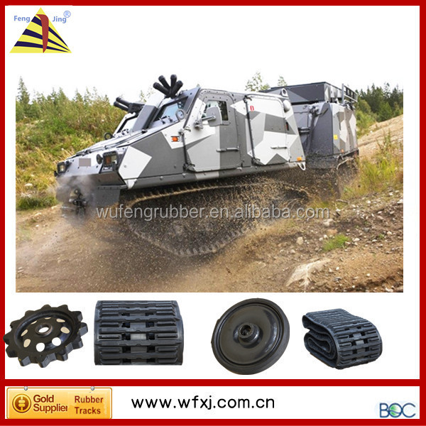 Hagglunds BV206 vehicle tracking systems Rubber Track