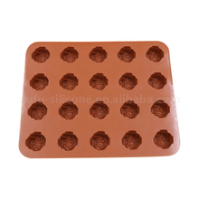 Mini Green rose Baking Muffin Pan Silicone Pies Baking Pan For Cake Shop