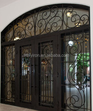 Hand Forged Custom Residential Entry Iron Door Exterior FD-457