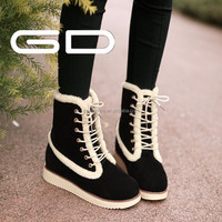 wholesale made in china lace up boots winner warm snow boots