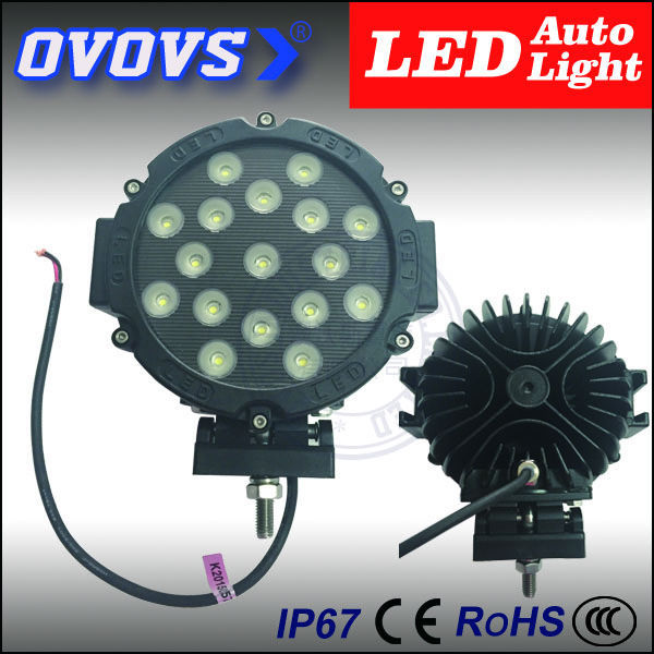 OVOVS black/red ring factory offer <strong>auto</strong> 7 inch 51 work led light for truck tractor
