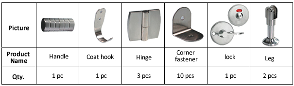 JIALIFU cheap zinc alloy hardware toilet partition cubicle price