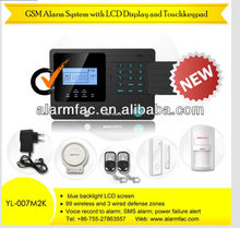 Newest GSM mms Alarm security System with LCD Screen YL-007M2E WIRELESS Door Window Security ALARM System EASY to install