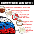 Soft Silicon Cat Nail Caps /Pet Nail Cover With Free Glue And Applictor