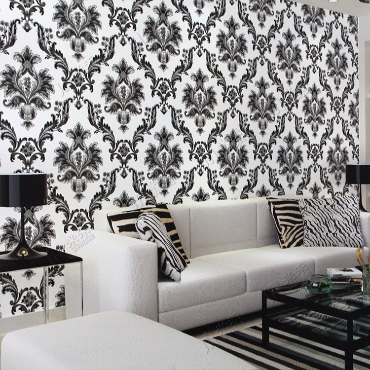 Beautiful Home Decor Waterproof Vinyl Damask Wallpaper