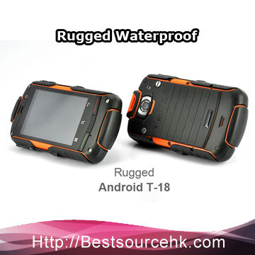 Wholesale 100% Original ROCK V5 GPS WIFI Rugged Phone Waterproof Android 3G rugged Mobile Phone Hot sale-cherry!