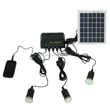 off grid Solar Lighting System 4W Solar Panel+1W LED portable lamp/lantern/mobile charger