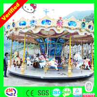 Indoor amusement games wooden toy carousel music box