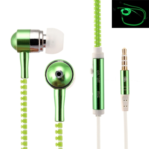 In stock low price Luminous In-Ear Stereo Ear phone mobile with Wire Control + MIC, Support Answering and Rejecting Call