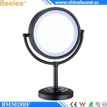 Beelee BM3028BF Wholesale Oil Rubbed Bronze Cosmetic Table Top Black Makeup Mirror with LED Light
