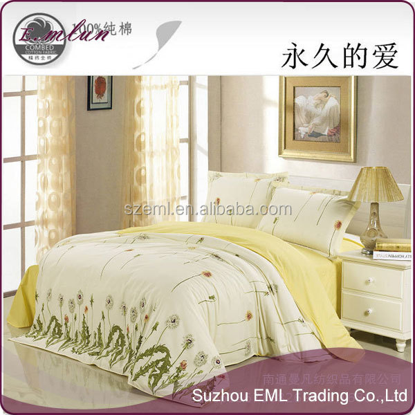 Home use bedclothes 100% Cotton Duvet/Comforter/Quilt Covers four bedding sets EML-12-W10010