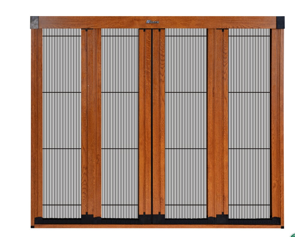 Chinese factory trackless plisse mosquito mesh fly screen casement door