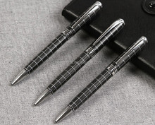 lines engraved patterned metal ball pen
