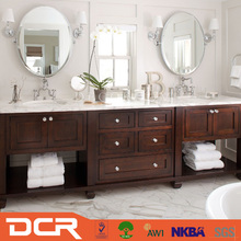 Wood Bathroom Cabinet Stainless Steel Vanity Table With Lighted Mirror Makeup