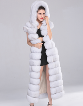 Hot Selling Luxurious Women Winter Long Style Real Fox Fur Vest With Hat