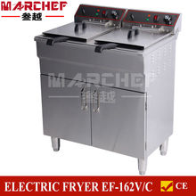 16+16Liters Free Standing Double Tanks Electric Industrial Frying Machine/Commercial chicken fryer