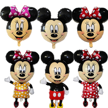 cartoon character children toys golobs mickey & minnie mouse head shaped foil helium balloons