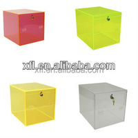 various custom colorful acrylic boxes