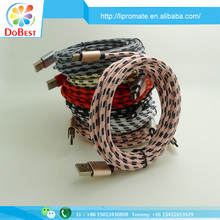 High speed fast charging braided nylon type c cable USB 3.0 to USB 3.1