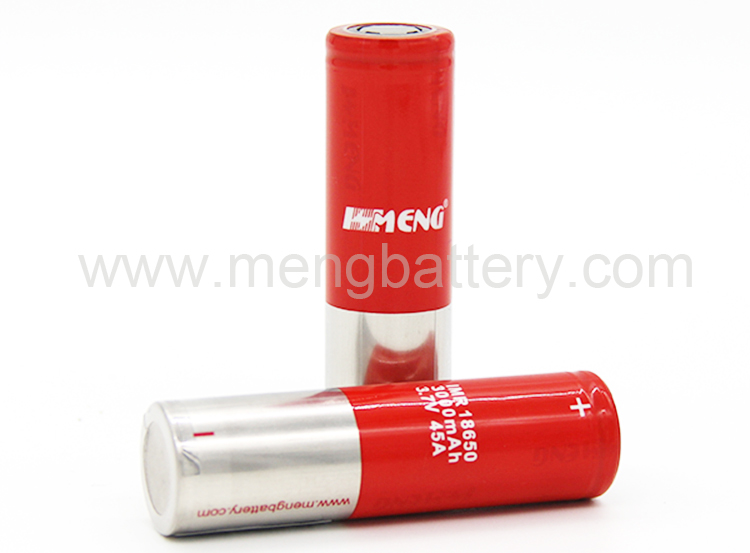 MENG high capacity 3000mah 45A 18650 battery lithium ion rechargeable 18650 battery
