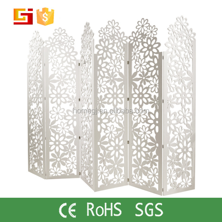 Modern fashion carved wooden folding screen room divider