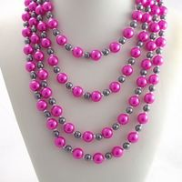 Imitation Pearl Costume Jewellery 2016 Multistrands Beaded Necklace