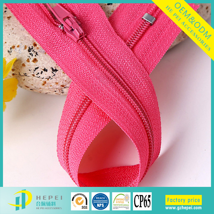 fashion kids clothing heavy duty plastic ideal nylon zippers factory price