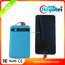 2015 New mould LCD Digital Display Power Banks with Built-in Dual Cables Mobile Power Chargers