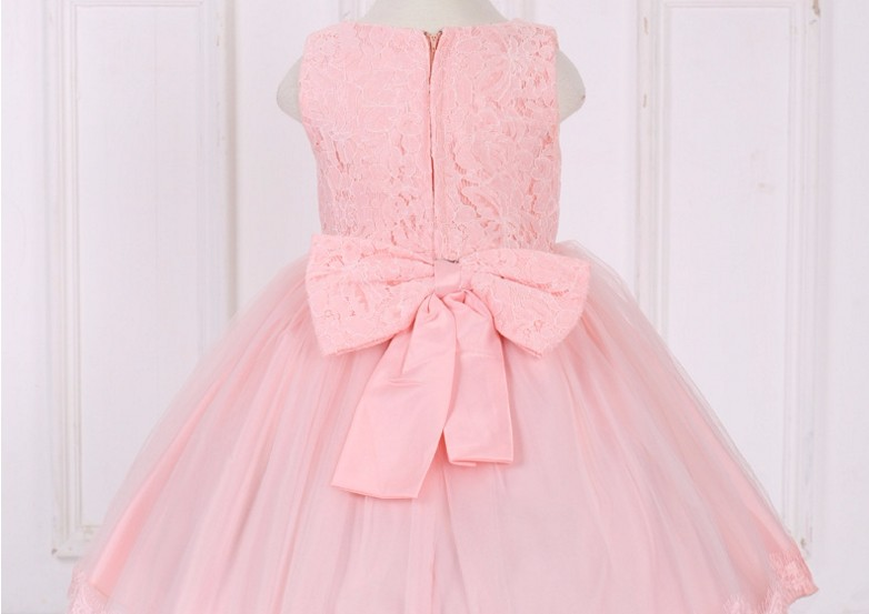 2017 Lace Child Wedding Dress Skirt Sleeveless Rose Princess Dress