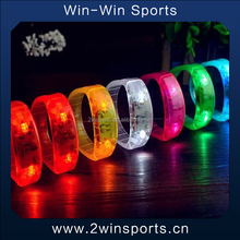 Event&party supply 2016 Novelty Sound music Activated led flashing bracelet