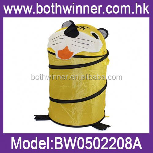 pop up kid laundry hamper ,H0T047 cheap folding animal shape laundry basket , kids laundry hamper