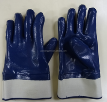 colored nitrile gloves; nitrile work gloves ; 13 guage polyester shell with black nitrile coated palm