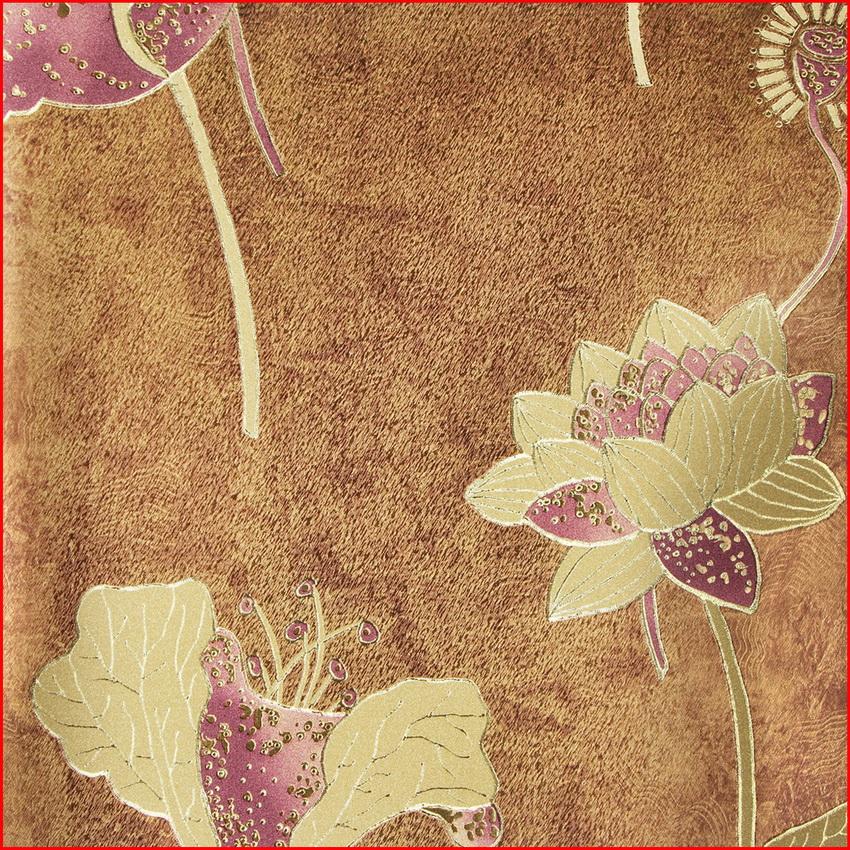 Flor de lótus clássica metálico laminado papel